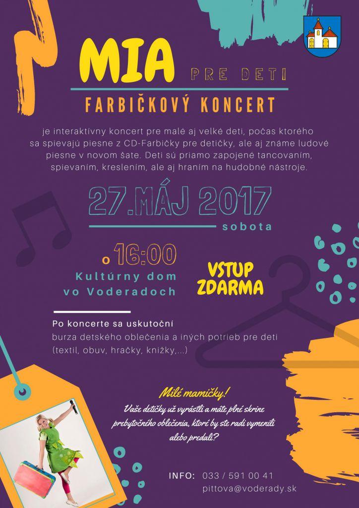 52df9f778148 Kalendár akcií - MIA pre deti - Farbičkový koncert a Burza detského ...