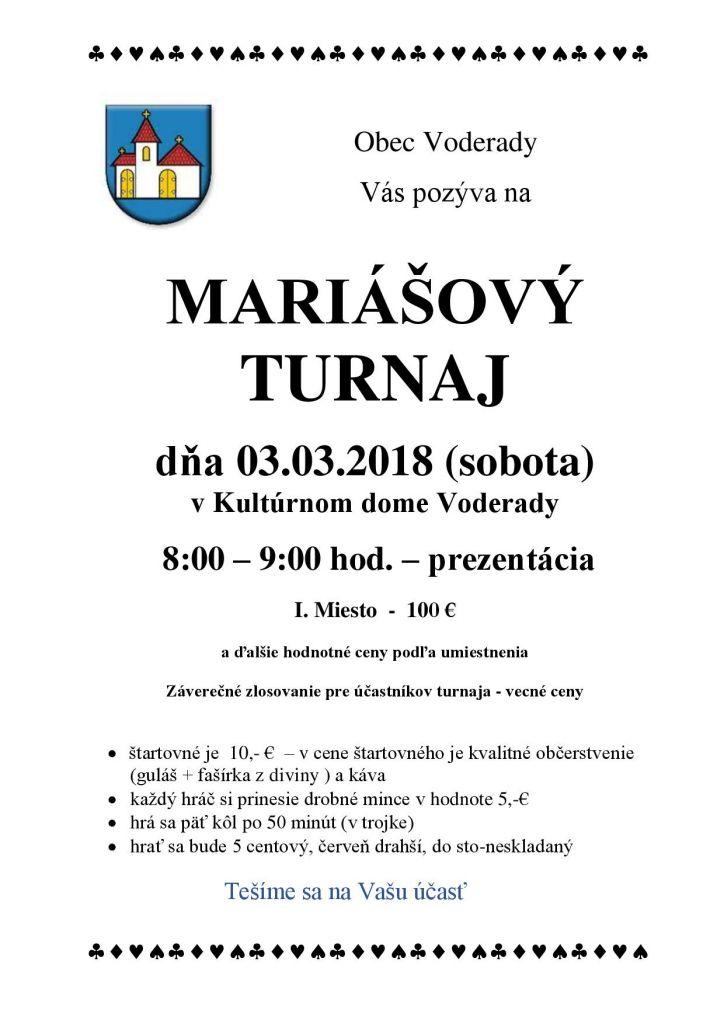 Mariáš 2018