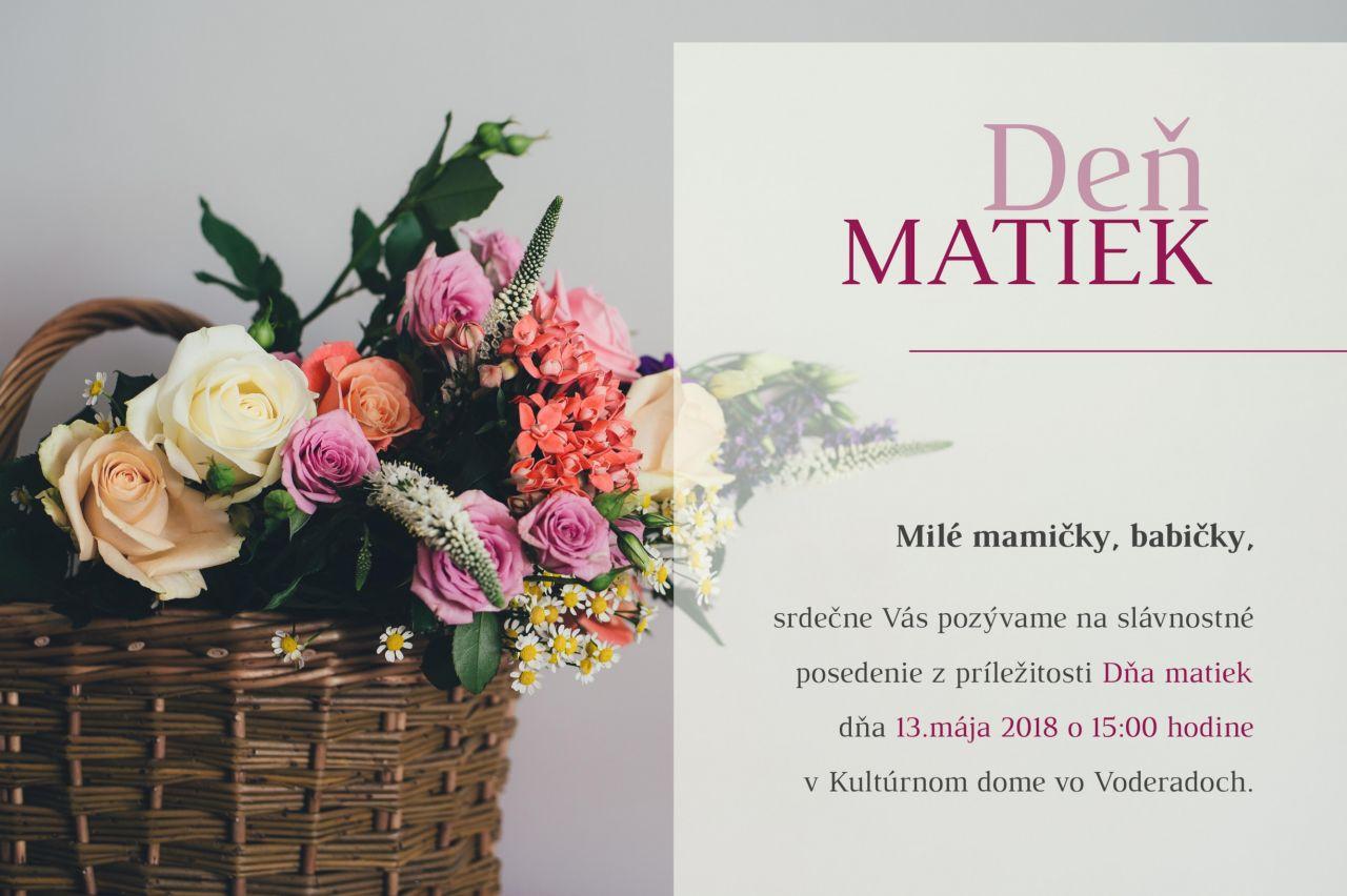 Deň matiek 2018